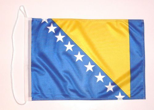 Bootsflagge Bosnien Herzegowina 30 x 45 cm