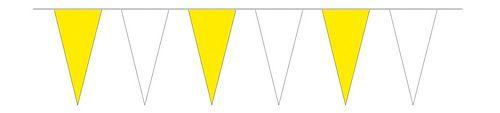 Wimpelkette gelb / weiß 4 m