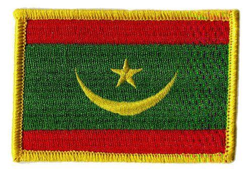 Fahnen Aufnäher Mauretanien