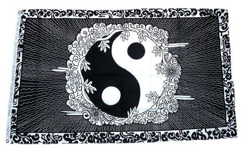 Fahne / Flagge Ying Yang Zeichen 90 x 150 cm