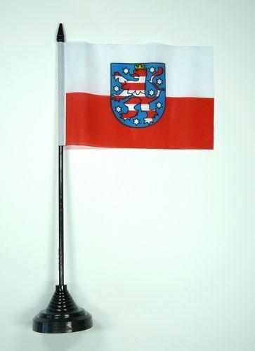 Fahne / Tischflagge Thüringen NEU 11 x 16 cm Flaggen