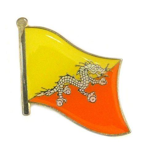 Flaggen Pin Fahne Bhutan Pins NEU Anstecknadel Flagge