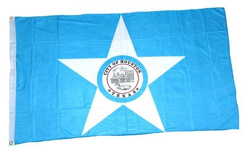 Fahne / Flagge USA - Houston 90 x 150 cm