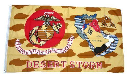 Fahne / Flagge US Marine Corps Desert Storm 90 x 150 cm