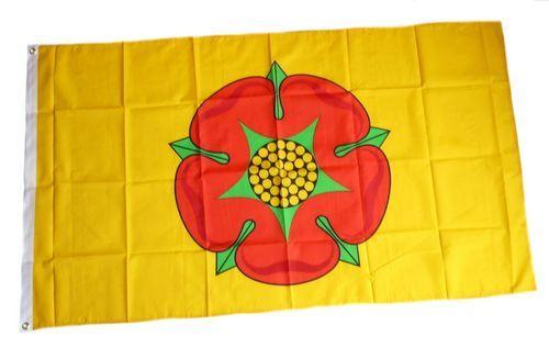 Fahne / Flagge England - Lancashire Rose 90 x 150 cm
