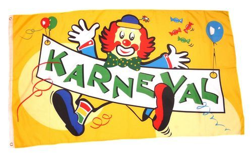 Fahne / Flagge Karneval Fasching Clown 60 x 90 cm