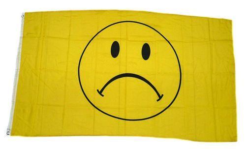 Fahne / Flagge Smile traurig Smiley 90 x 150 cm