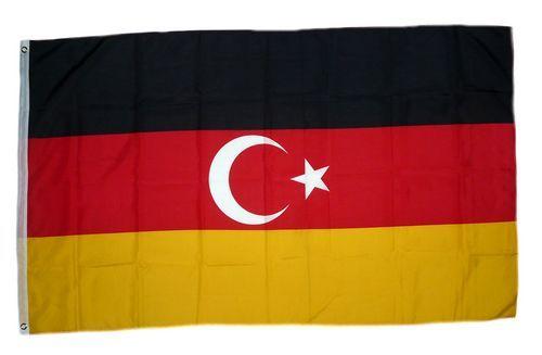 Fahne / Flagge Deutschtürken 90 x 150 cm