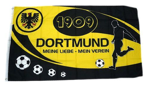 Fahne / Flagge Dortmund Mein Verein 90 x 150 cm