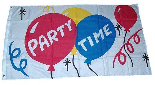 Fahne Party Time Fete Hissflagge 60 x 90 cm Flagge