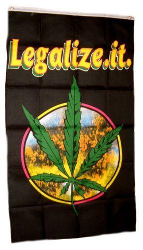 Fahne / Flagge Hanfblatt Legalize it 90 x 150 cm