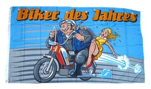 Fahne / Flagge Biker des Jahres 90 x 150 cm