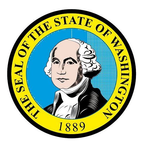 Fahnen Aufkleber Sticker Siegel USA - Washington