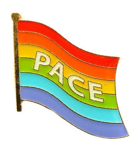 Flaggen Pin Regenbogen - Pace NEU Fahne Flagge Anstecknadel