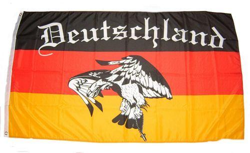 Fahne / Flagge Deutschland Fußball 5 90 x 150 cm
