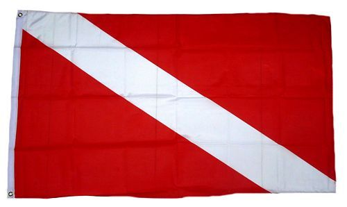 Fahne / Flagge Tauchen Scuba Diving 90 x 150 cm