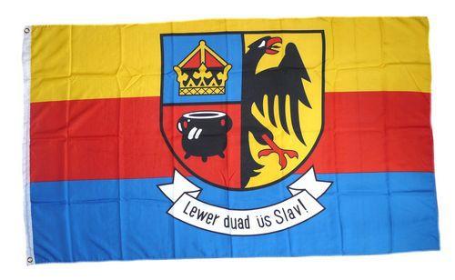 Flagge / Fahne Nordfriesland Schrift Hissflagge 90 x 150 cm