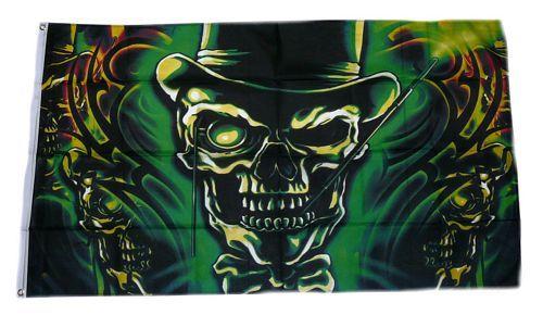 Fahne / Flagge Skull Totenkopf Fantasy 90 x 150 cm
