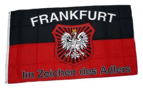 Fahne / Flagge Frankfurt Fan Wappen Adler 90 x 150 cm