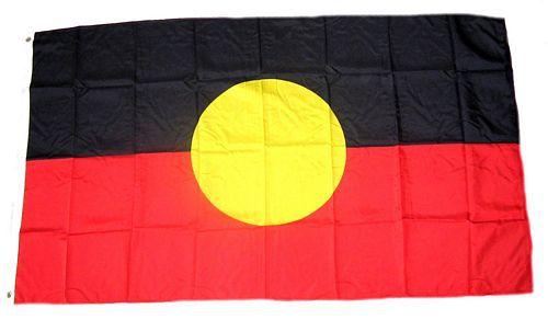 Flagge / Fahne Australien - Aborigines Hissflagge 90 x 150 cm