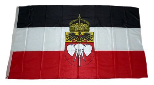 Fahne / Flagge Deutsch Kamerun Krone 90 x 150 cm