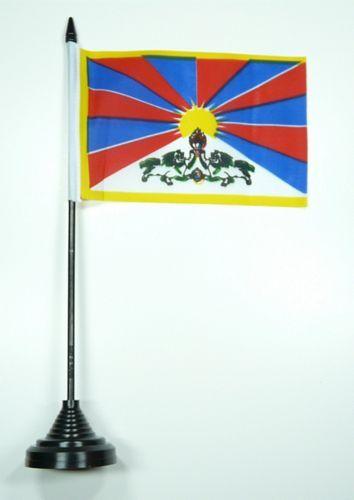 Fahne / Tischflagge Tibet 11 x 16 cm Flaggen