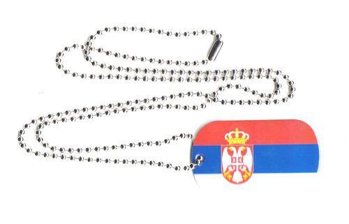Dog Tag Fahne Serbien Wappen