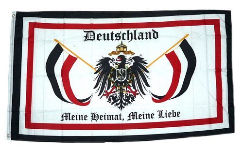 Fahne / Flagge Deutschland Meine Heimat Meine Liebe 90 x 150 cm