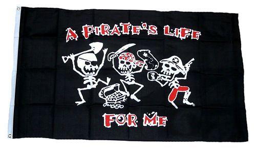 Fahne / Flagge Pirates Life 90 x 150 cm