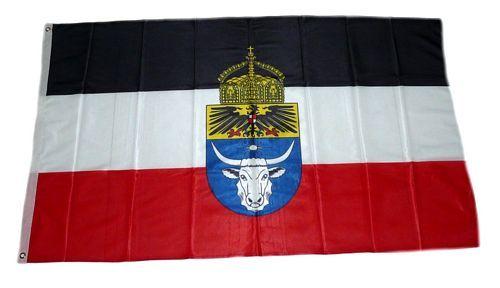 Fahne / Flagge Deutsch Südwestkolonie Krone 90 x 150 cm
