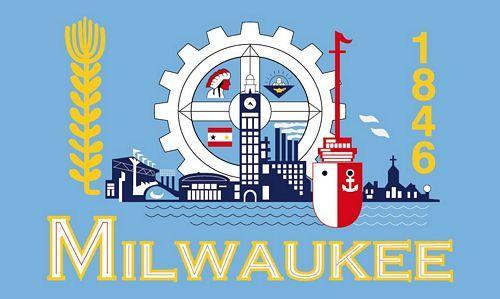 Fahne / Flagge USA - Milwaukee 90 x 150 cm