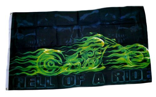 Fahne / Flagge Hell of a Ride Motorrad 90 x 150 cm