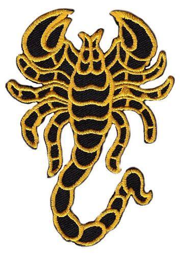 Aufnäher Patch Skorpion gelb
