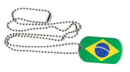 Dog Tag Fahne Brasilien