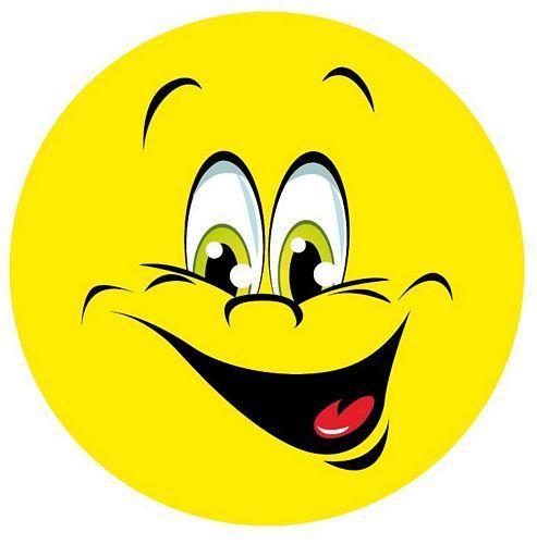 Aufkleber Sticker Smile lachend
