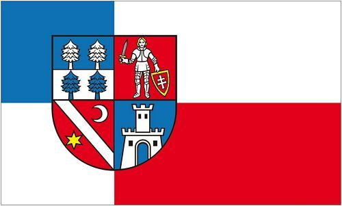 Fahne / Flagge Slowakei - Banská Bystrica 90 x 150 cm