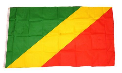 Fahne / Flagge Kongo Brazaville 60 x 90 cm