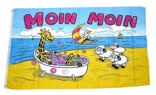Fahne / Flagge Moin Moin Giraffe 90 x 150 cm