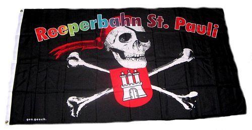 Fahne / Flagge Reeperbahn St. Pauli 90 x 150 cm