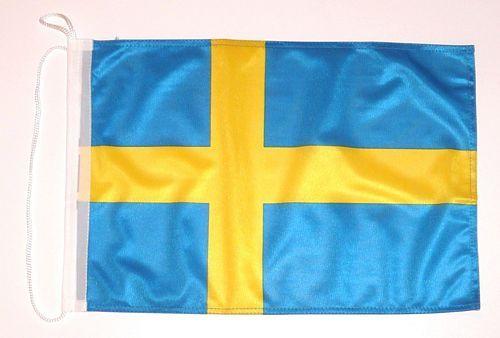 Bootsflagge Schweden 30 x 45 cm