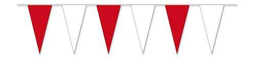 Wimpelkette rot / weiß 4 m