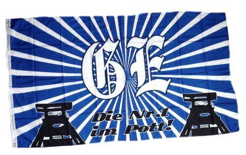 Fahne / Flagge Gelsenkirchen Silhouette Fan 90 x 150 cm