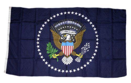 Fahne / Flagge USA - Präsident blau 90 x 150 cm