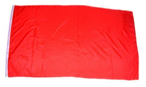 Fahne / Flagge Einfarbig Rot 150 x 250 cm