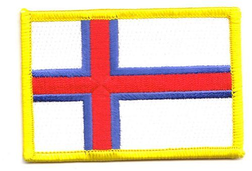 Fahnen Aufnäher Färöer Inseln