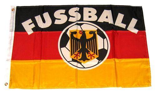 Fahne / Flagge Deutschland Fußball 90 x 150 cm