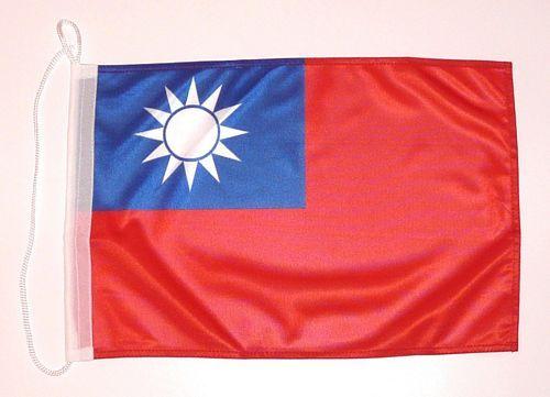 Bootsflagge Taiwan 30 x 45 cm