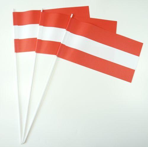 10 Papierfähnchen Österreich Papierfahnen Fahne Flagge