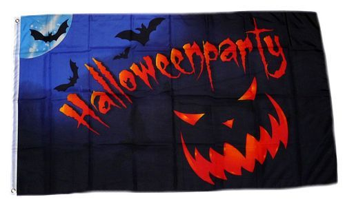 Fahne / Flagge Happy Halloween Party 90 x 150 cm