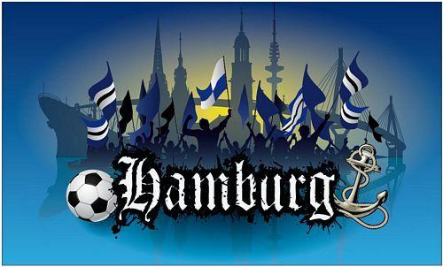 Fahne / Flagge Hamburg Fan Silhouette NEU 90 x 150 cm